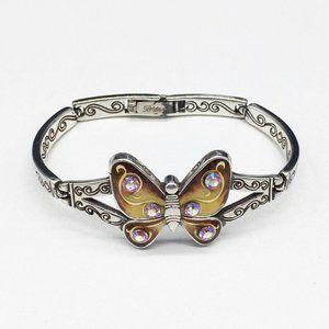 Brighton Bracelet Papillon Enamel Butterfly SIlver